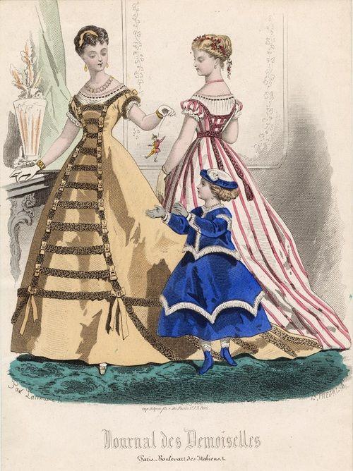 February fashions, 1867 France, Journal des Demoiselles