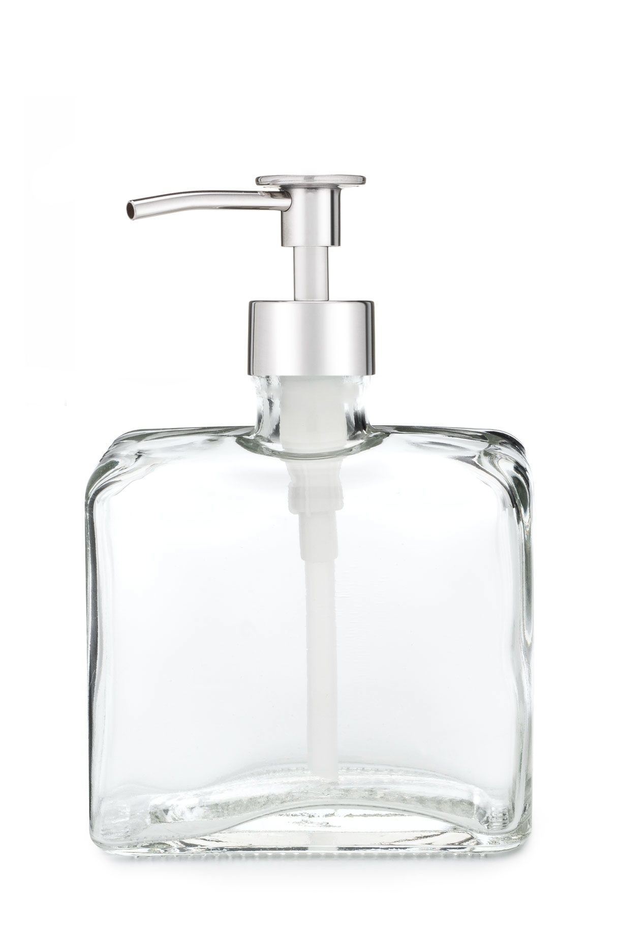 Little Urban Square Shaped Recycled Glass Soap Dispenser Glass