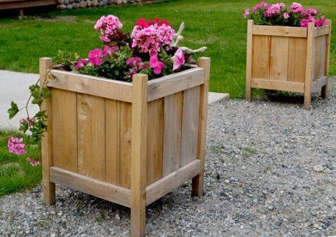 Cedar Planters for less than $20!
