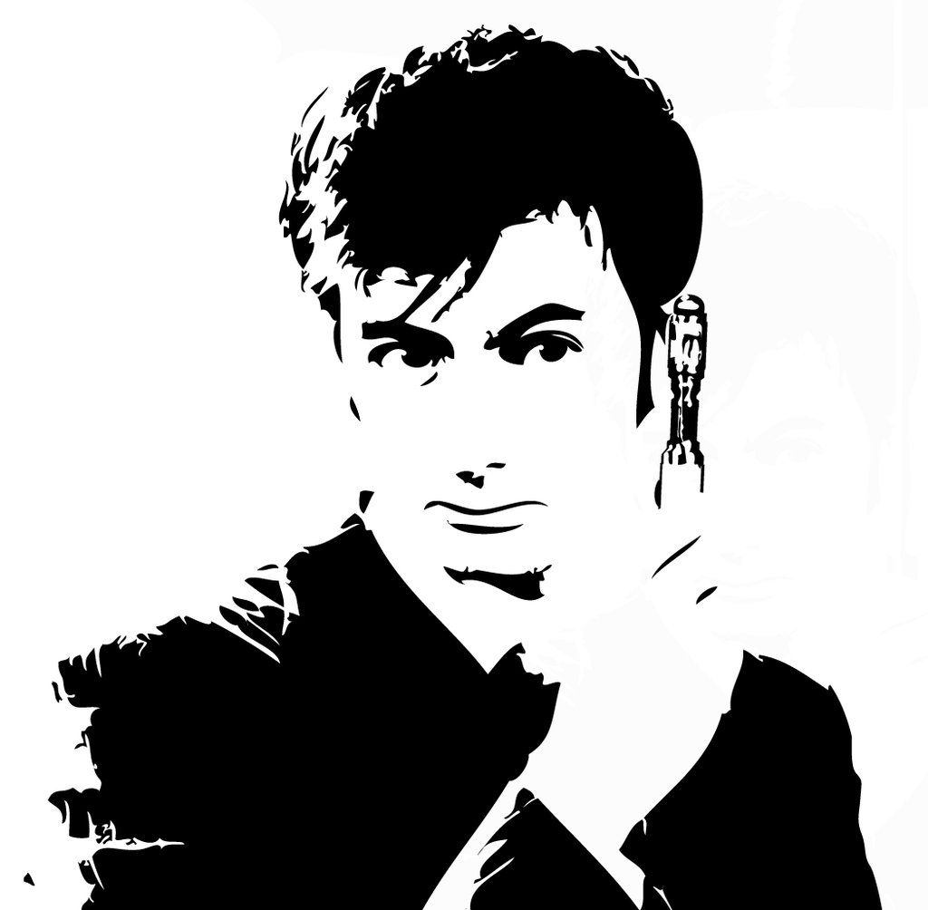 Doctor Who Stencils | Stenciling, David tennant and Fandom