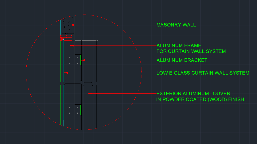 Wall Detail plus curtain wall detail - CAD Files, DWG files, Plans
