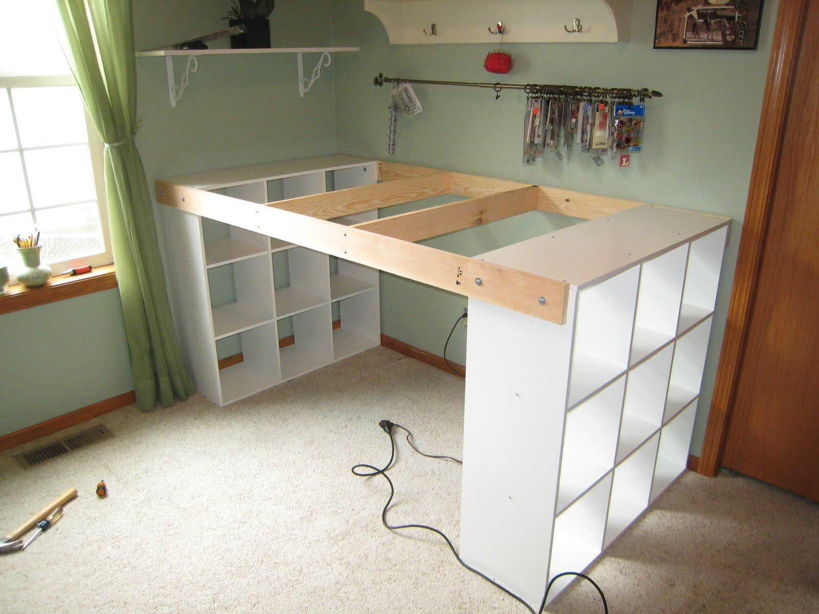 Do it yourself white craft desk craft room ideas pinterest do it yourself white craft desk solutioingenieria Choice Image