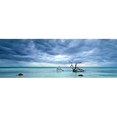 Latitude Run 'Cerulean Silence' Photographic Print on Wrapped Canvas