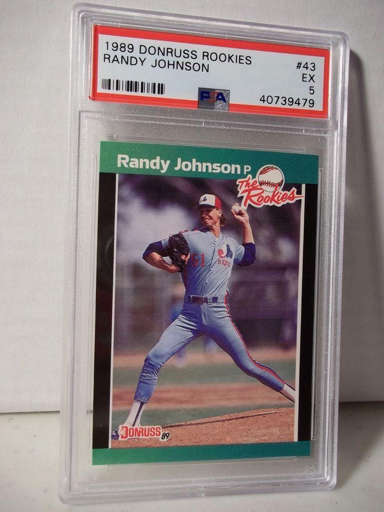 1989 donruss rookies randy johnson psa ex 5 baseball card