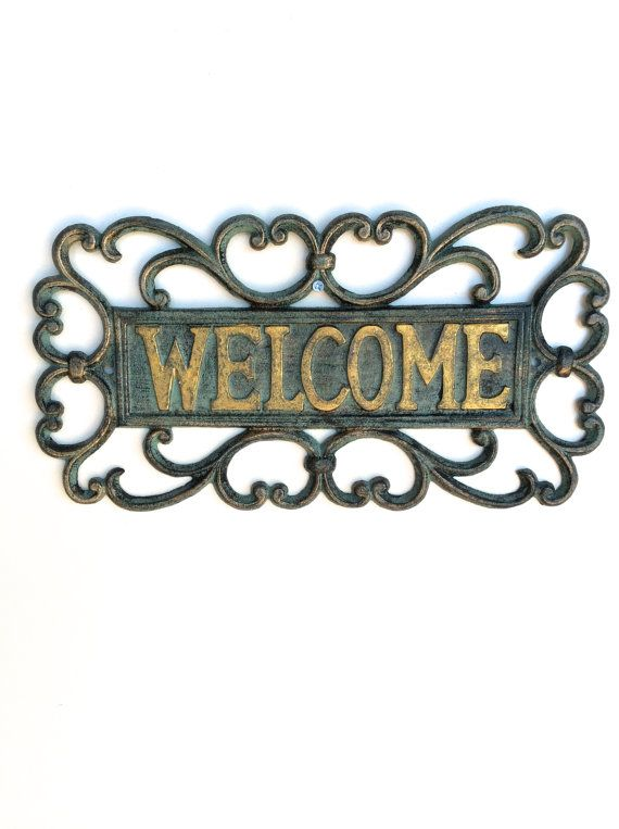 Garden By Marco Ciarciaglino On Etsy Garden Signs Outdoor Welcome Sign Metal Welcome Sign