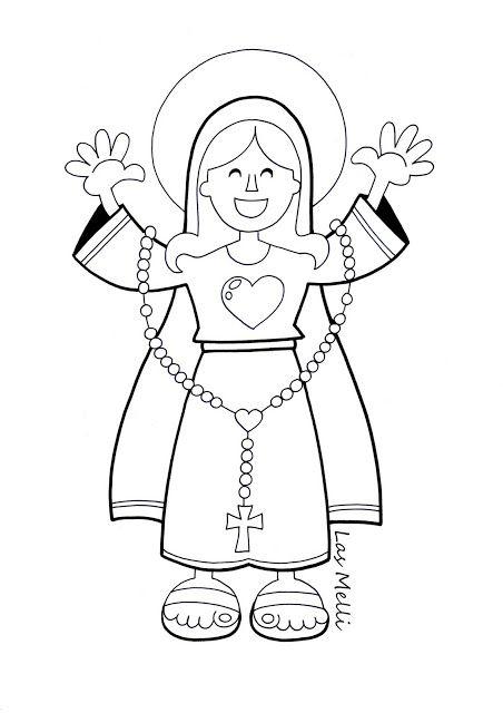 Dibujo María Y El Rosario Para Los Más Chiquitos El