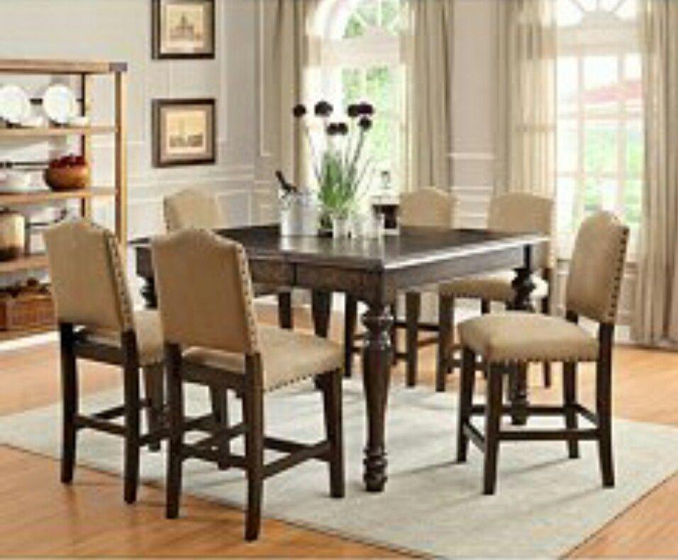 Room Garrett Dining Table 7pc Set