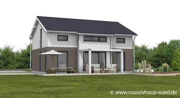 Massivhaus Modern Satteldach