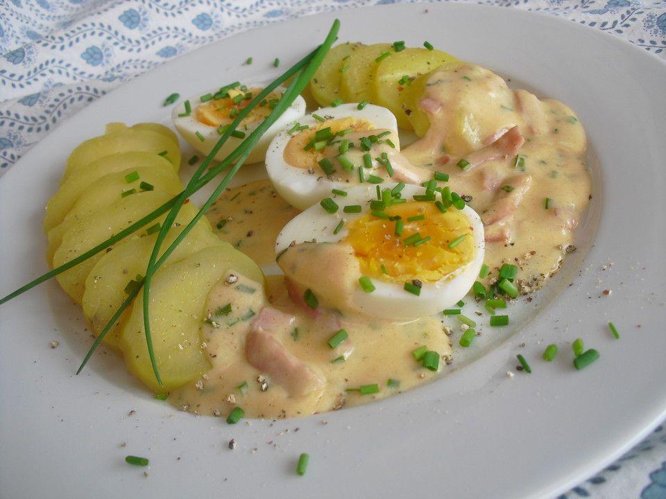 Eier in Schinken-Sahne-Soße