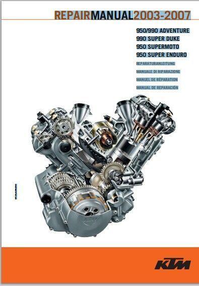 2003 2007 ktm 950 990 super duke ra lc8 service repair manual pdf