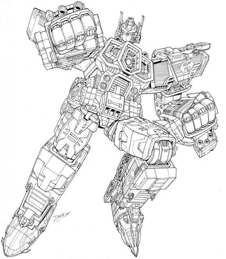 Ausmalbilder Transformers 04 Arbeit Coloring Pages Transformers