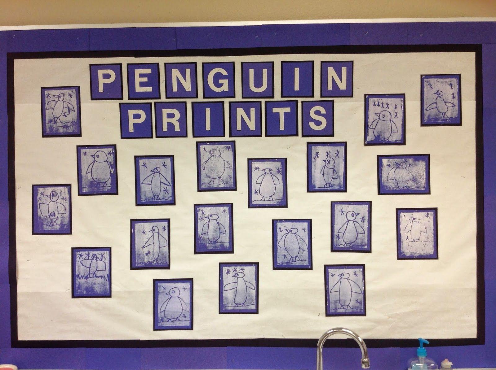 Mrs T S First Grade Class Penguin Prints