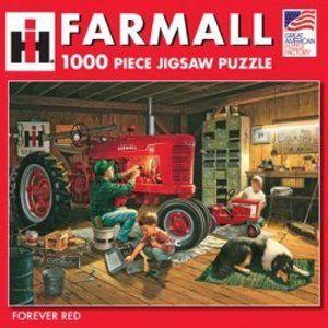 Farmall Tractor Puzzle Farmall Tractors Forever Red Antique