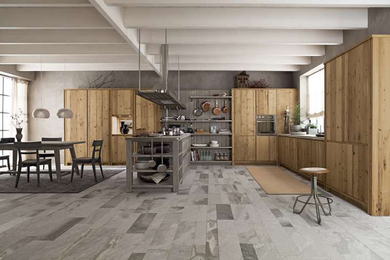 Boiserie Da Cucina : Cucina rustica abete vecchio cucina mod. maestrale con anta in legno