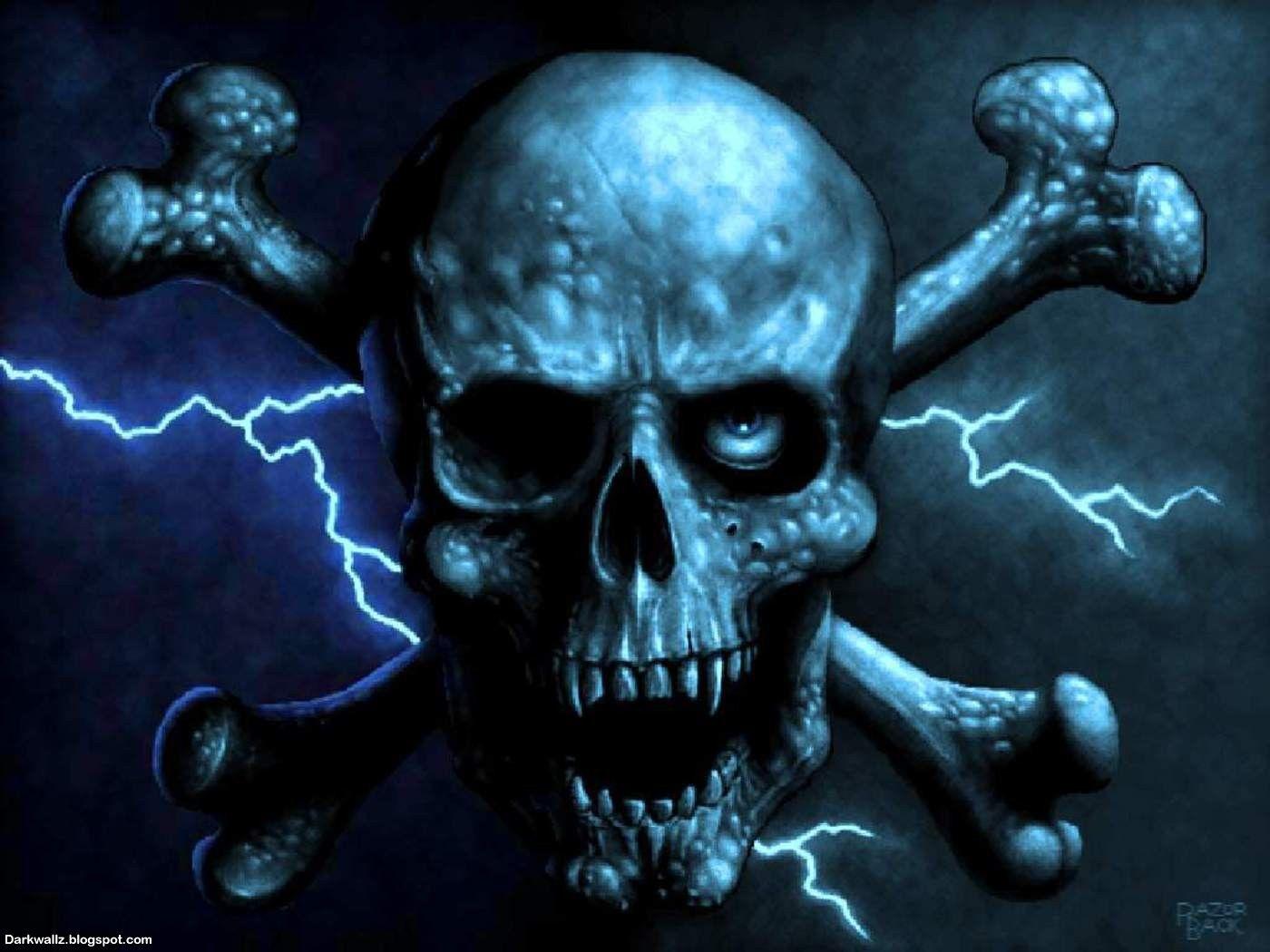 Dark Skull Skulls Wallpapers 56 Dark Skull Wallpaper