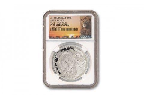 2014 Serengeti Lion Big 5 1-oz Silver NGC PF70