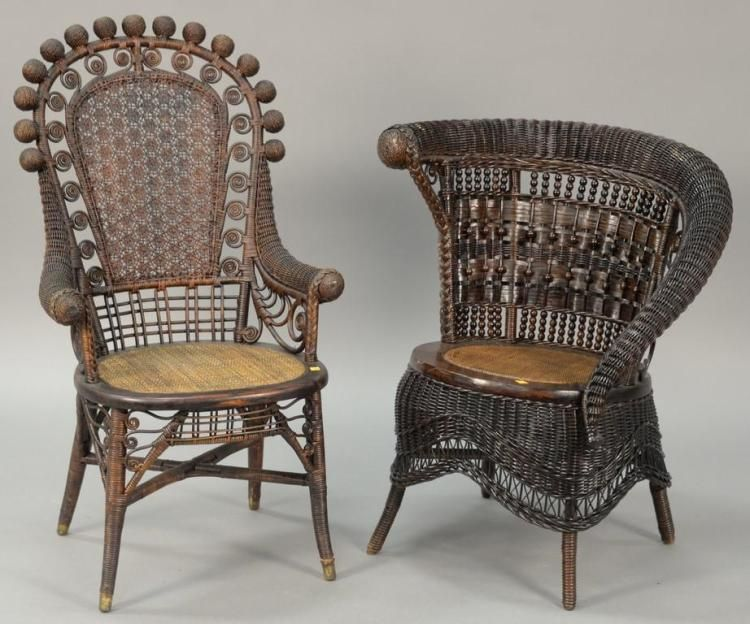 Victorian wicker chairs.