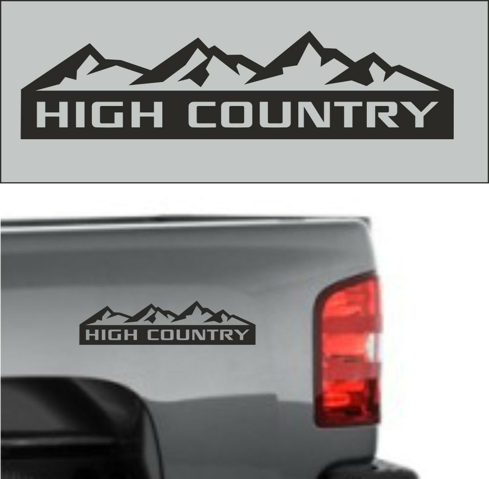 2pcs Chevrolet Silverado High Country Truck Decal Sticker Emblem Black 12 Chevrolet Silverado Country Trucks Silverado High Country