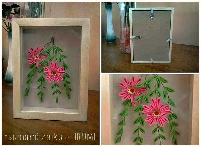 Tsumami Zaiku Japanese Handicraft In A Frame As Home Decor My