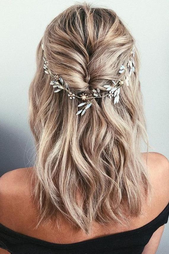 Photo of Bridal hair piece Bridal hair vine Blue Opal Bridal hair vin…