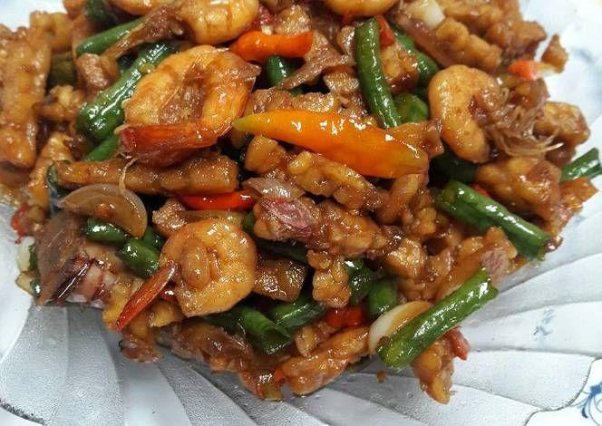Resep Oseng Pedas Udang Tempe Oleh Yulia Yusuf Resep Memasak Makanan Tumis