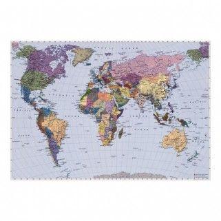 Fototapeta Mapa Swiata 270 X 188 Cm Tapety I Tkaniny Farby I Malowanie Katalog Produktow Map Wall Mural World Map Mural World Map Wallpaper
