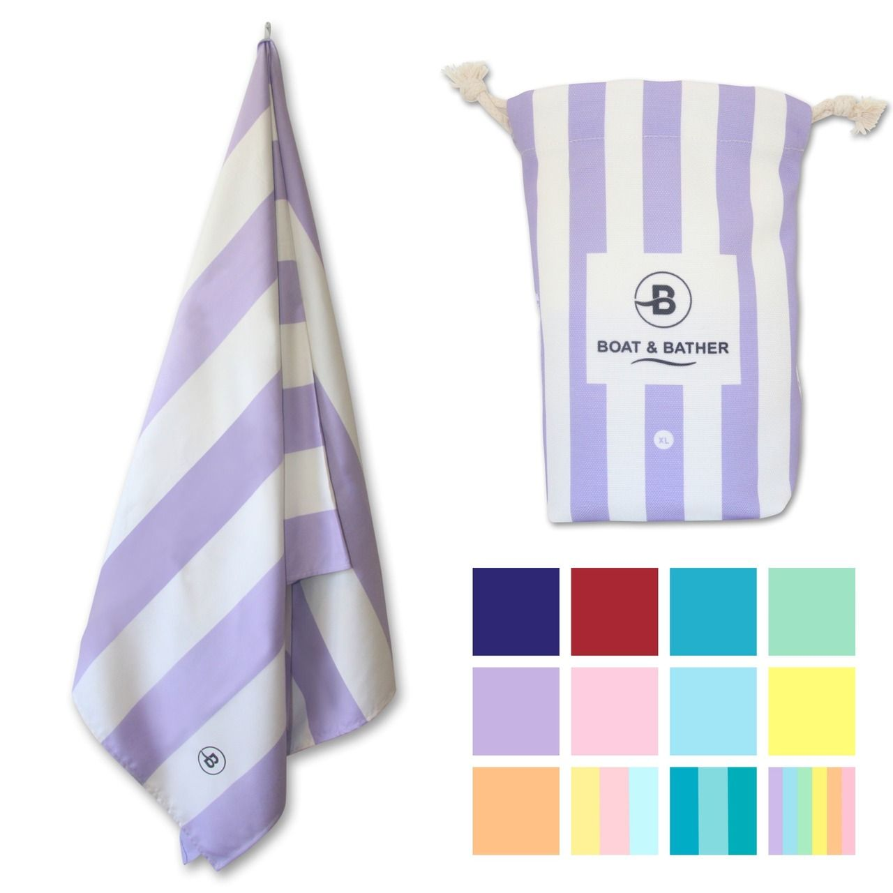 Candy Purple Microfiber Beach Towel Extra Large 200x90cm
