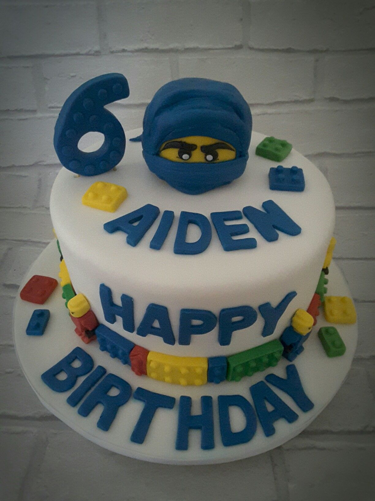 Marvelous Lego Ninjago Birthday Cake Blue Boy Birthday Cake Ninjago Funny Birthday Cards Online Alyptdamsfinfo