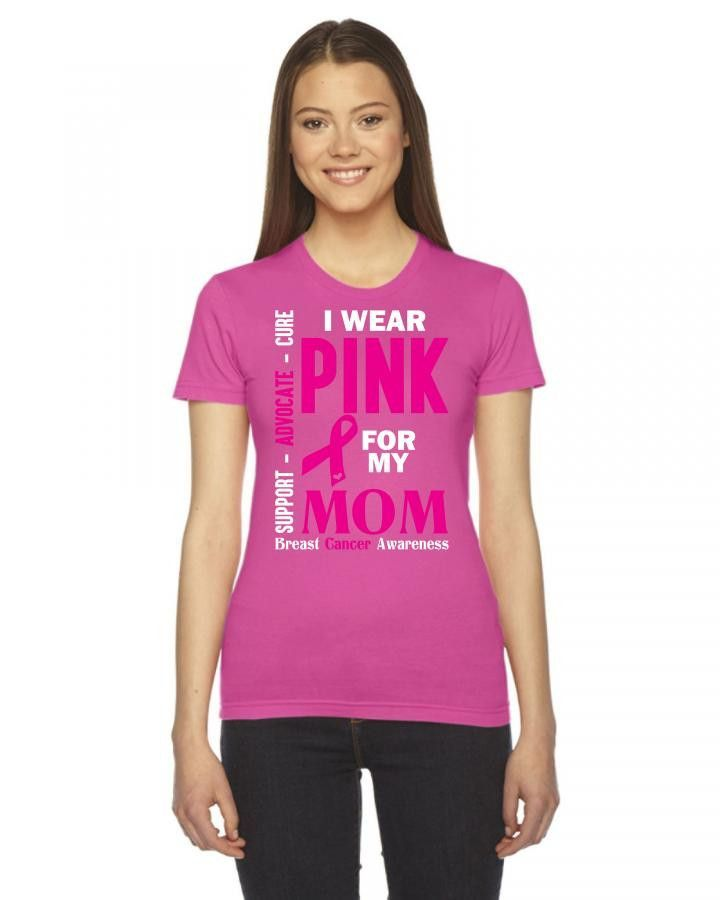 i wear pink for my mom 1 Ladies Fitted T-Shirt