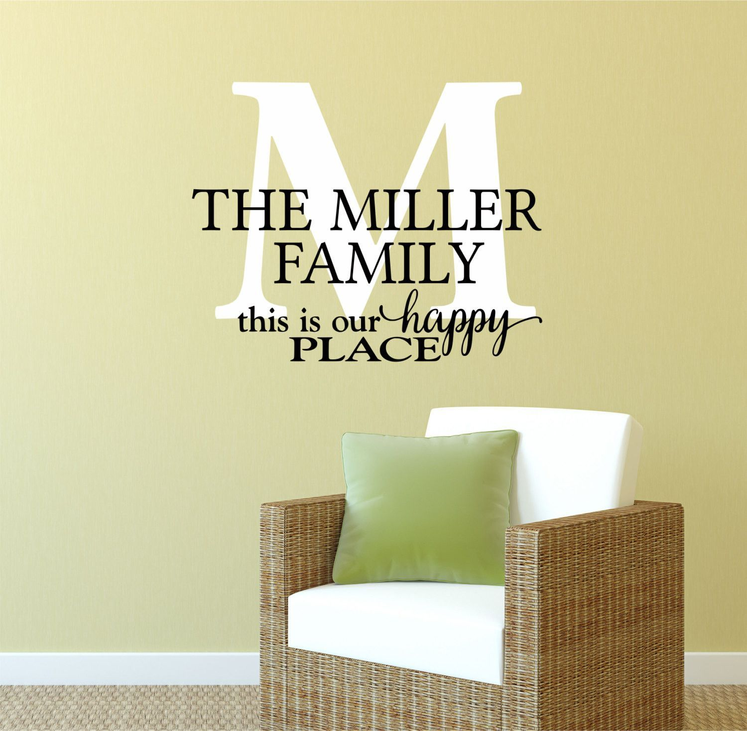 Family Name Decals - by Decor Designs Decals, This Is Our Happy ...