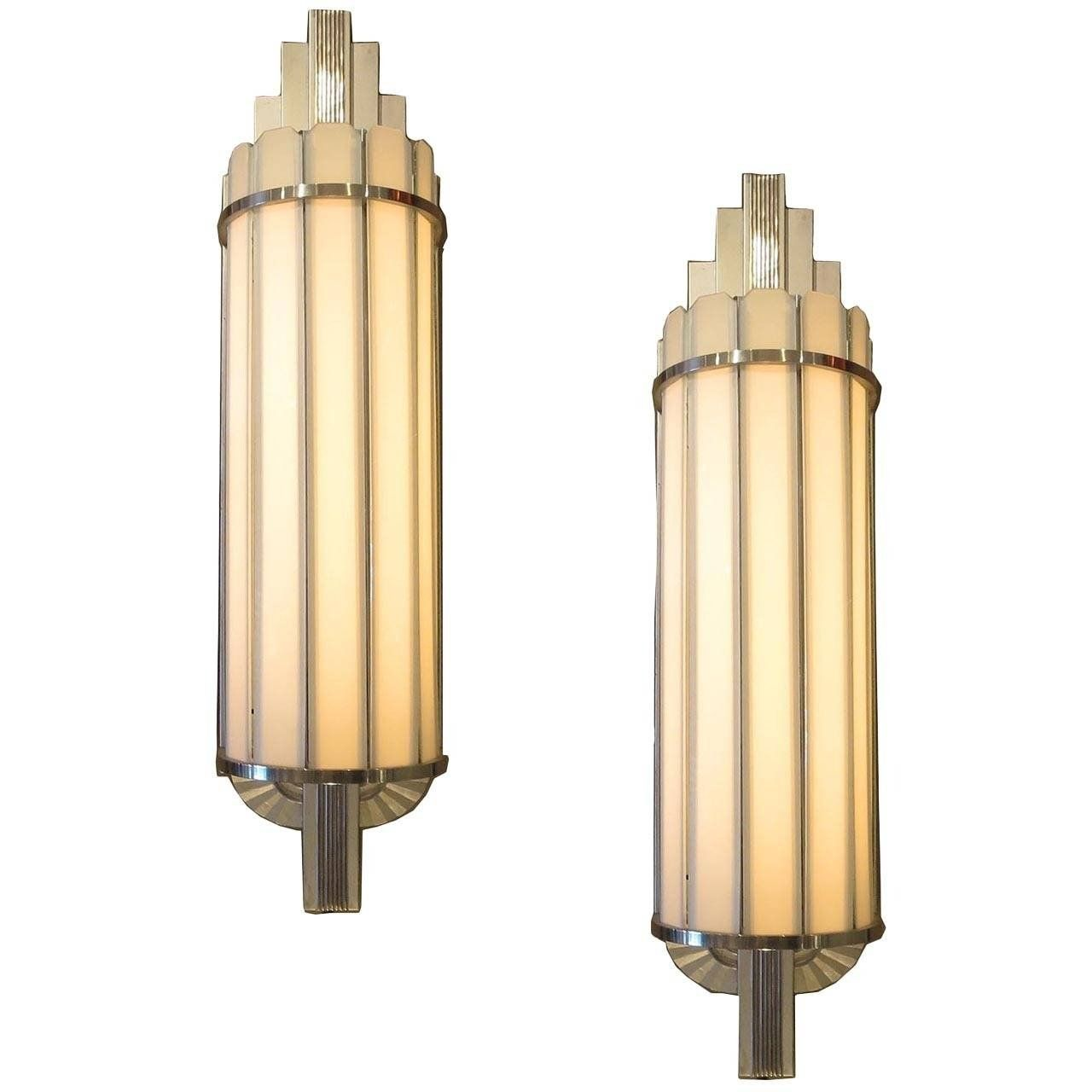 Art deco large theater wall sconces at stdibs for measurements