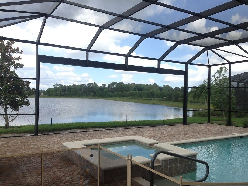 Florida Pool Screen Enclosures Screened Pool Pool Patio Pool Enclosures