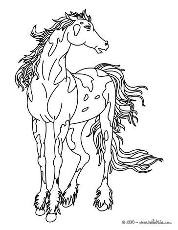 Wild Horse Coloring Page Cute And Amazing Farm Animals Coloring Page For Kids More Coloring Sh Horse Coloring Pages Farm Animal Coloring Pages Horse Coloring