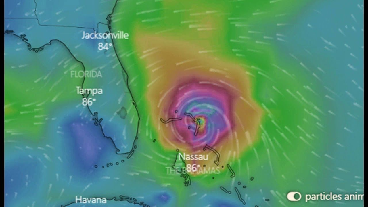 Monster Hurricane Dorian Hits Category 3 And Is Projected To Hit Cat 4 Youtube Florida Coastline Hurricane Underground World