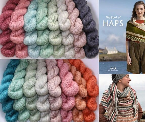 54971e58f5a Kate's fabulous colour choices of Yeavering Bell DK for her Solstice Hap Merino  Wool Blanket,