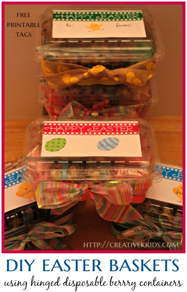 Make easter baskets out of disposable strawberry baskets free make easter baskets out of disposable strawberry baskets free printable labels negle Image collections