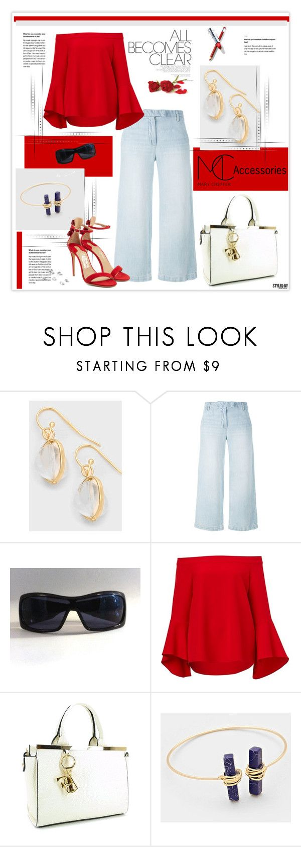 """""""Great Accessories"""" by marion-fashionista-diva-miller ❤ liked on Polyvore featuring Current/Elliott and Salvatore Ferragamo"""