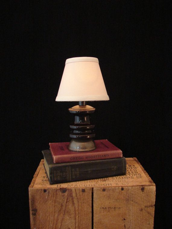 Upcycled Vintage Ceramic Electrical Insulator Lamp