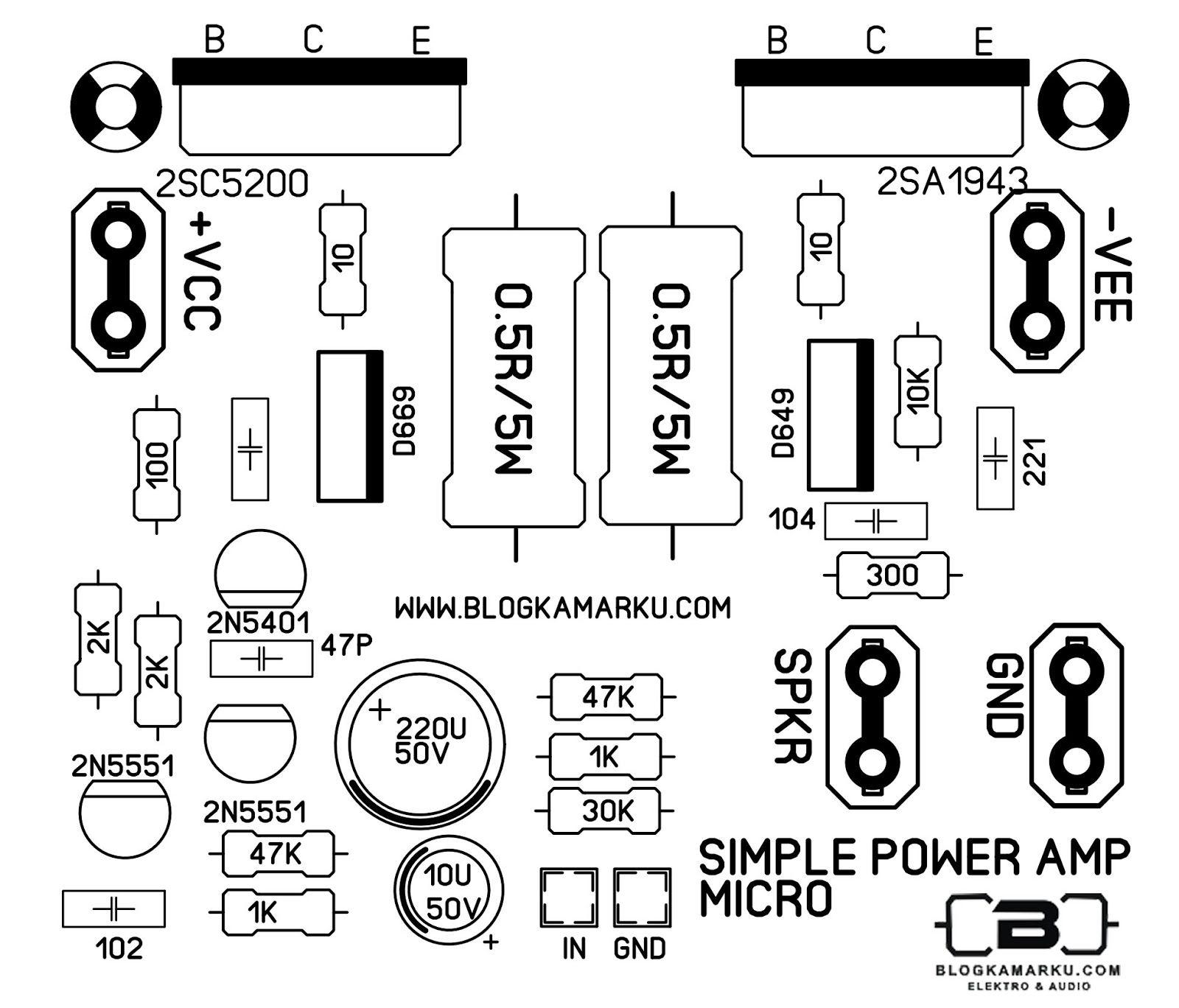 Layout Pcb Tone Control Apex Dan Komponen Nya T