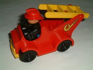 Lego Duplo Parts And Pieces Vintage Fire Engine With Minifigure