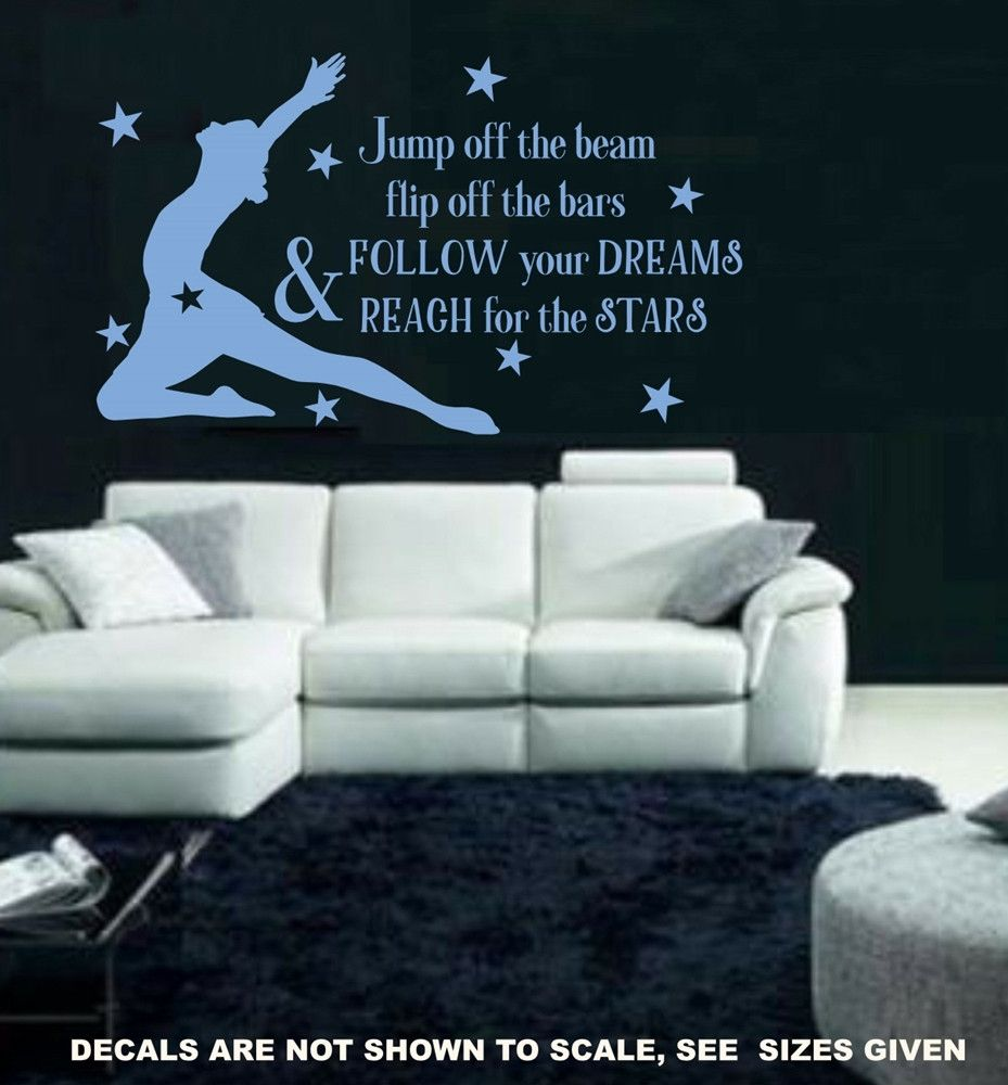 Follow your dreams gymnastics wall art sticker med vinyl decal follow your dreams gymnastics wall art sticker med vinyl decal amipublicfo Image collections