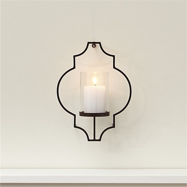 Rosaline Metal Wall Candle Holder Crate And Barrel