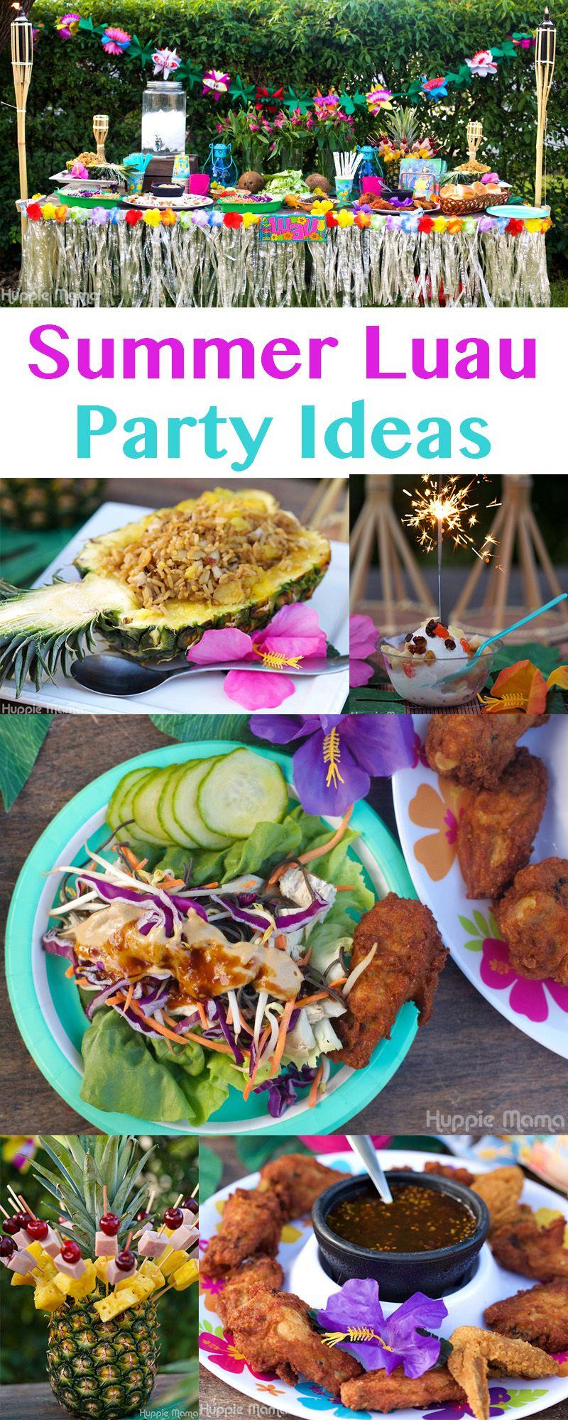 #AD Summer Luau Party Ideas #SummerYum | Luau Party Ideas ...