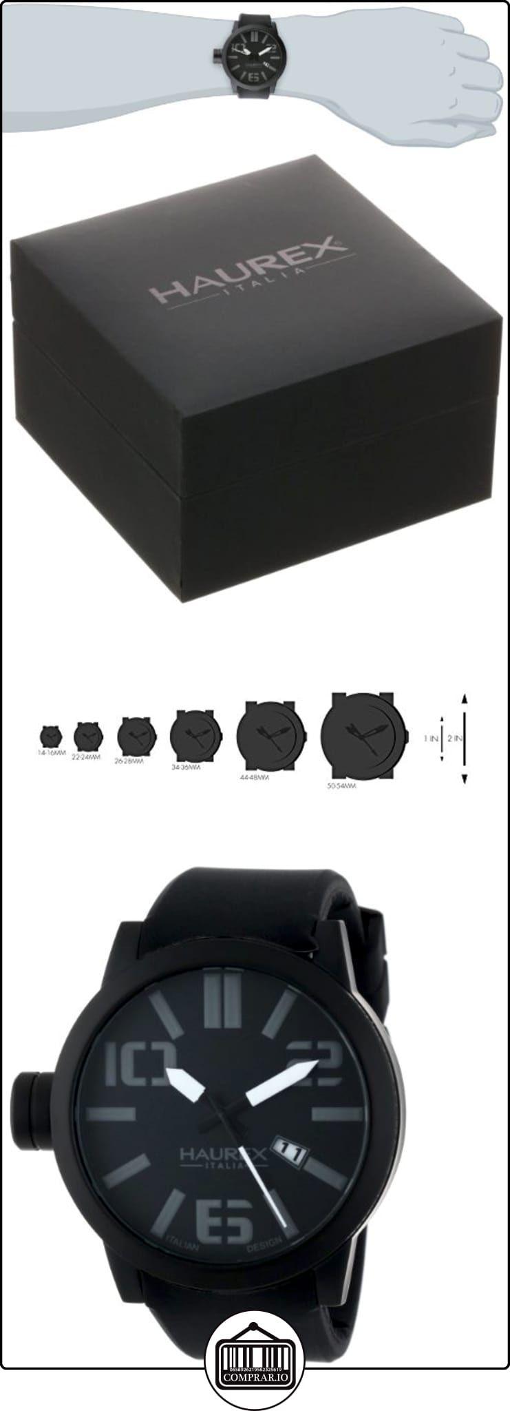 89e5b2e5503a Haurex Italy Caballero 1N377UNN Turbina Black IP Case Black Dial Silicone  Date Reloj ✿ Relojes para hombre - (Lujo) ✿