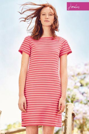 Buy Joules Riviera Pink Stripe Jersey T-Shirt Dress online today at Next: Israel