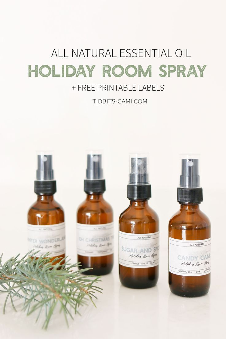 All Natural Essential Oil Holiday Room Spray Recipe Essential