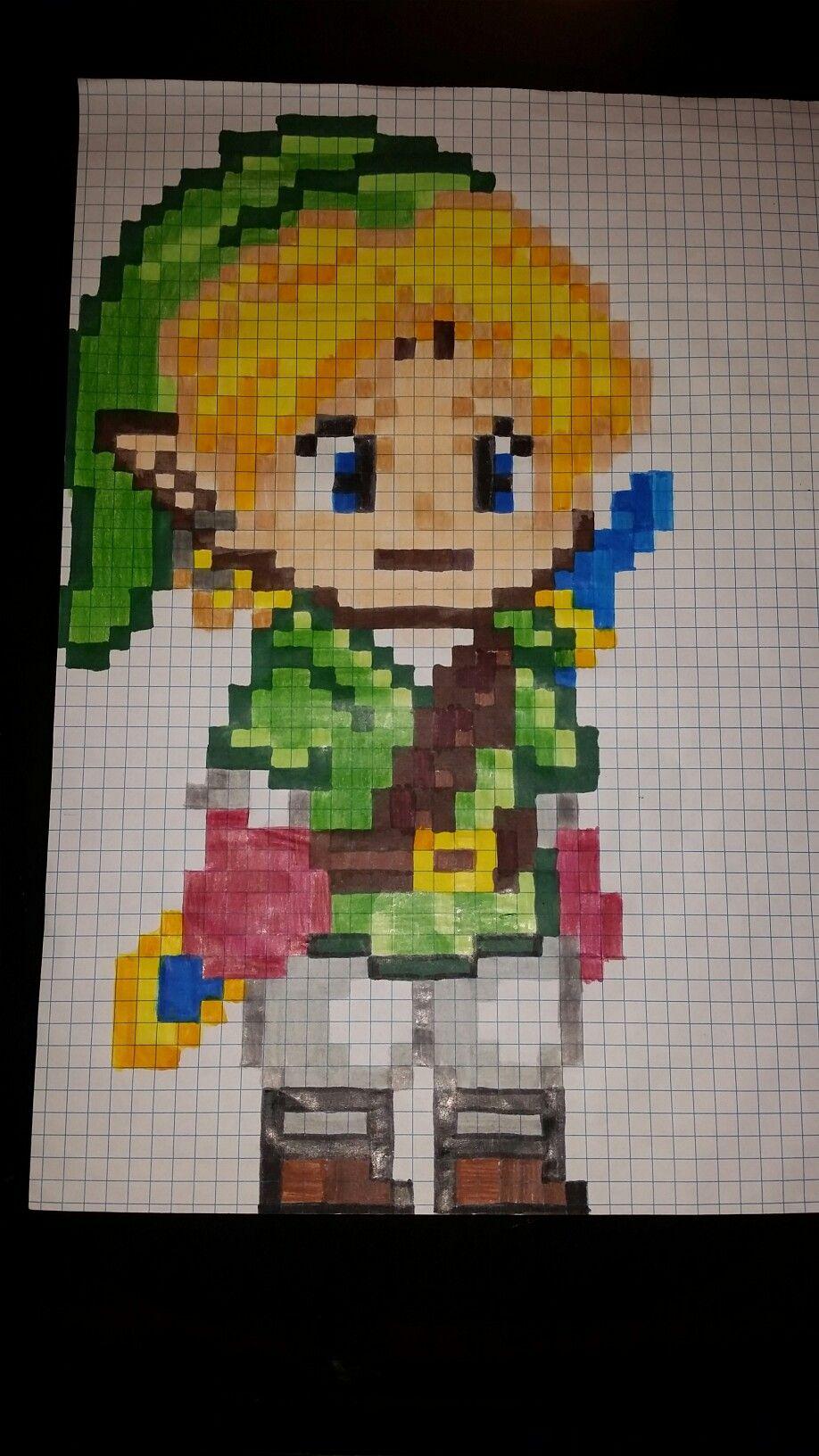 Link Pixel Art Dessin Pixel Dessin Carreau Pixel Art