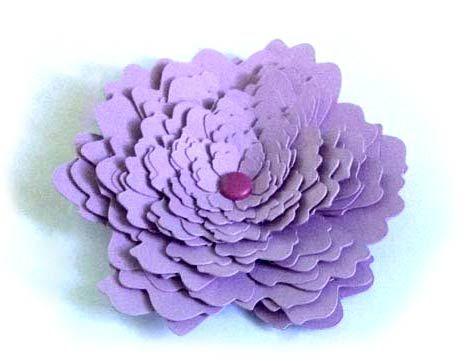 Tutoriel Fabriquer Une Fleur En Relief 3d Avec Une Silhouette