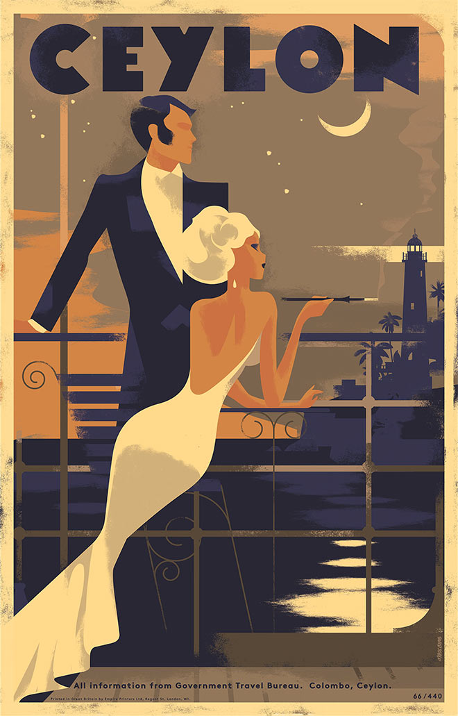 60 Inspiring Designs in the Style of Art Deco Travel Posters