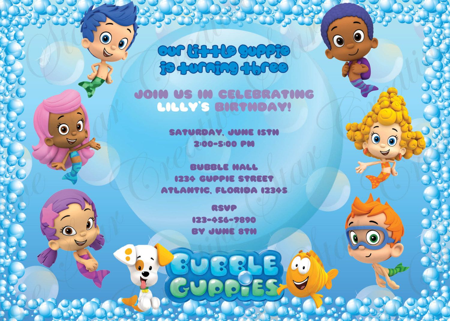 Free Invitations Template Bubble Guppies Invitations Templates – Bubble Guppies Party Invites